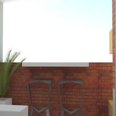 balcón : Jardines frontales de estilo  por Naromi  Design