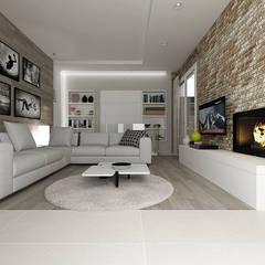 Casa GL: Soggiorno in stile  di De Vivo Home Design