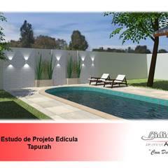 Piscina: Piscinas de jardim  por Lidiane Santos Arquitetura