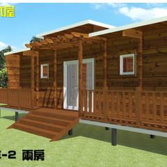 時尚型-兩房木屋:  木屋 by 金城堡股份有限公司