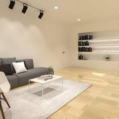 Pluit Residence:  Ruang Keluarga by KERA Design Studio