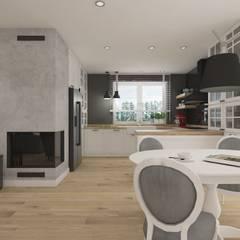 Wnętrze w stylu new york z nutką nowoczesności: styl , w kategorii Kuchnia zaprojektowany przez SO INTERIORS ARCHITEKTURA WNĘTRZ