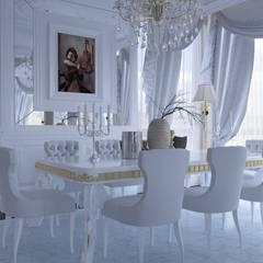 Magic Mimarlık – Angora villa: klasik tarz tarz Yemek Odası