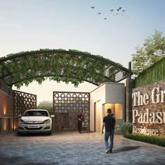 The Green Padasuka Residence:  Rumah by Ashari Architect