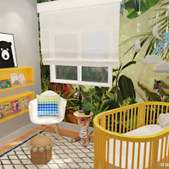 Baby Room in Den Haag:  Babykamer door Studio Baoba