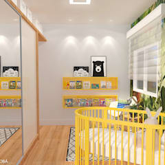 Baby Room in Den Haag:  Kinderkamer door Studio Baoba, Modern