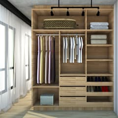 Dressing room by Abitarte - Arquitetura e Interiores, Rustic Wood Wood effect
