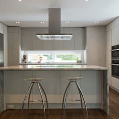 Foxhall Renovation:  Built-in kitchens by ARCHI-TEXTUAL, PLLC