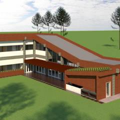 VU - 3 - VIVIENDA RESIDENCIAL UNIFAMILIAR: Casas unifamiliares de estilo  por RR Arquitecto