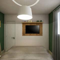 Apartamento Tropicália: Quartos  por Yuri Rebello - Arquitetura Consciente