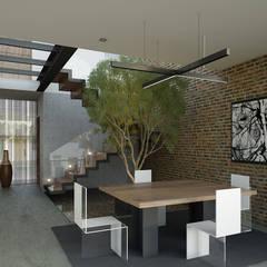 Vista Comedor: Pasillos y recibidores de estilo  por 21arquitectos