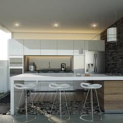 ห้องครัว โดย 21arquitectos, มินิมัล