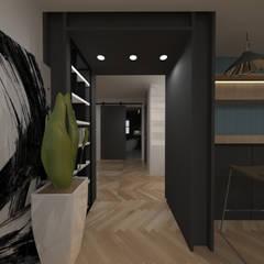 두공간을-- 한공간으로 인테리어 디자인: 디자인 이업의  실내 정원
