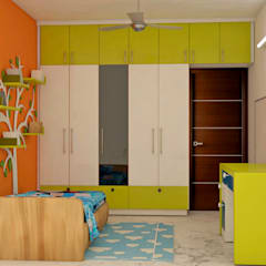 Mantri Webcity, Duplex 3 BHK - Mr. Vishal: modern Nursery/kid's room by DECOR DREAMS
