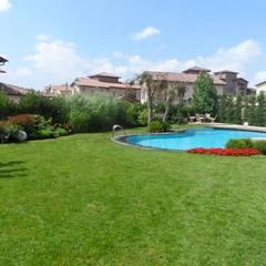 Ece Botanik & Eksen Peyzaj – Toscana Sitesi:  tarz Bahçe süs havuzu
