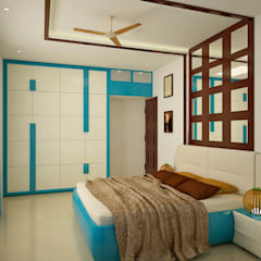 SJR Watermark, 3 BHK - Mr. Ankit:  Bedroom by DECOR DREAMS