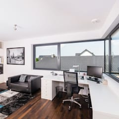 Spiel mit drei Kuben:  Arbeitszimmer von Helwig Haus und Raum Planungs GmbH