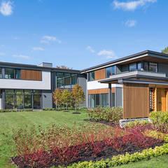 Casa de Campo 03: Casas de campo de estilo  por Eckostudio Horter S.A. de C.V.