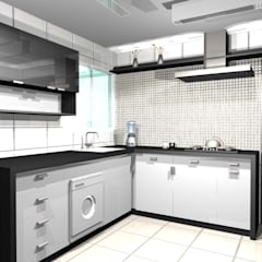 Built-in kitchens by tsmarquiteto, Eclectic Ceramic