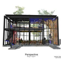 ร้านกาแฟ  Begin Again:  เรือนกระจก by Identity Design & Architecture Part.,Ltd