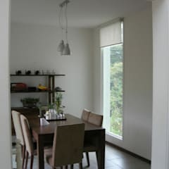 전원 주택 시공: (주)현대디자인건축의  다이닝 룸