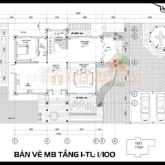 Parcelas de agrado de estilo  por Công ty TNHH TKXD Nhà Đẹp Mới,