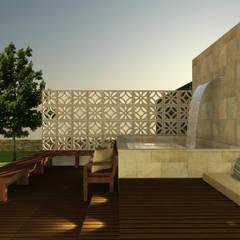 Área de Lazer por Céu de Brasília Arquitetura Rústico Concreto