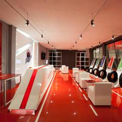 Llantera Kumho: Concesionarias de automóviles de estilo  por Boutique de Arquitectura  (Sonotectura + Refaccionaria)