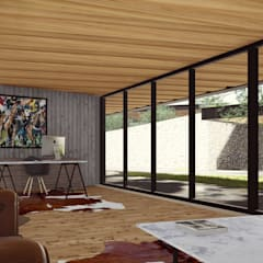 CUARTO DE MONTURAS: Salas de estilo industrial por TDT Arquitectos