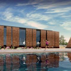 CASA CLUB ALBERCA: Albercas infinity de estilo  por TDT Arquitectos