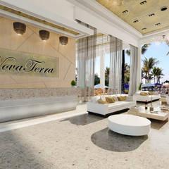 : Salas de estilo mediterráneo por ecoexteriores