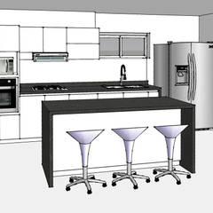 Lo primero: Un render de tu cocina #2: Cocinas de estilo  por Remodelar Proyectos Integrales