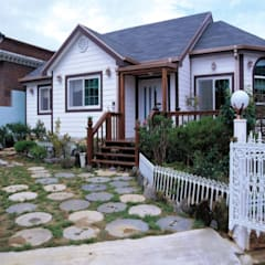 Terrace house by (주)현대디자인건축