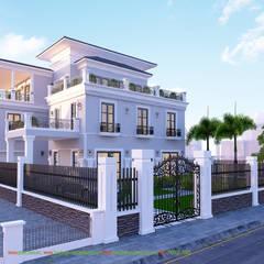 Thiết kế kiến trúc biệt thự đường Lê Hồng Phong - Tp.Hải Phòng:  Biệt thự by Công ty TNHH Thiết Kế và Ứng Dụng QBEST