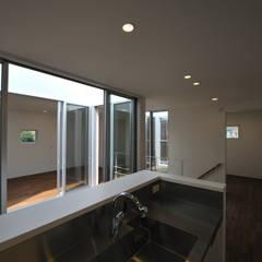 ミニマルな家: 杉浦建築計画事務所が手掛けたシステムキッチンです。