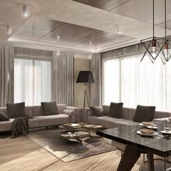 50GR Mimarlık – halkalı_örnek daire:  tarz Oturma Odası