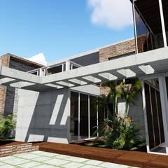 Casa Villa Nueva, El Hatillo. Caracas: Jardines en la fachada de estilo  por Arquitectura Creativa