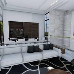 Salas / recibidores de estilo  por homify, Moderno Mármol