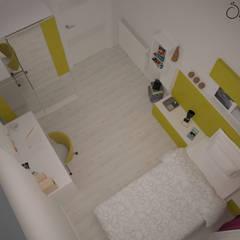 Deniz Gökçe Mimarlık ve İnşaat – Genç Odası:  tarz Kız çocuk yatak odası