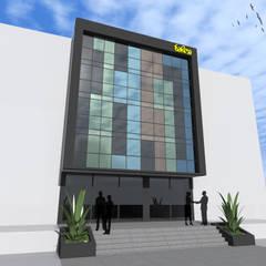 Deniz Gökçe Mimarlık ve İnşaat – İzmir / Çiğli / Ofis binası:  tarz Bitişik ev
