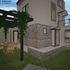 Deniz Gökçe Mimarlık ve İnşaat – İzmir / Seferihisar / Villa projesi:  tarz Müstakil ev