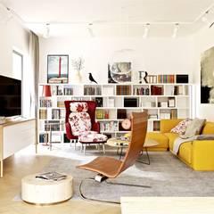 Nikolas II G2 ENERGO PLUS - nowoczesny dom, który ma wszystko!: styl , w kategorii Salon zaprojektowany przez Pracownia Projektowa ARCHIPELAG
