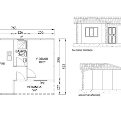 TUNA PREFABRİK – TP1 40 m2:  tarz Evler