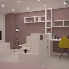 Deniz Gökçe Mimarlık ve İnşaat – Genç Odası | Young Room:  tarz Kız çocuk yatak odası