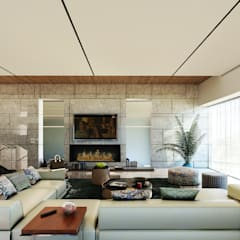 MAAB Villa: minimalistic Living room by GOWS architects
