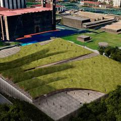 Vista de la Plaza: Museos de estilo  por Fi Arquitectos