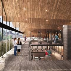 Vista Acceso Principal: Museos de estilo  por Fi Arquitectos