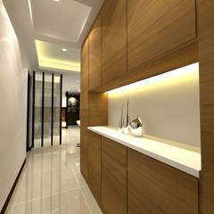Corridor & hallway by 劉旋設計事務所/劉旋工程有限公司