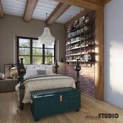 غرفة نوم تنفيذ MIKOŁAJSKAstudio
