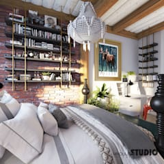 oryginalna sypialnia: styl , w kategorii Sypialnia zaprojektowany przez MIKOŁAJSKAstudio
